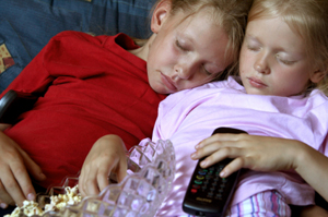 Photo of two sleeping children