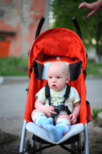 Photo of a baby in a stroller