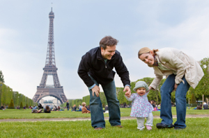 Young Family in Paris
